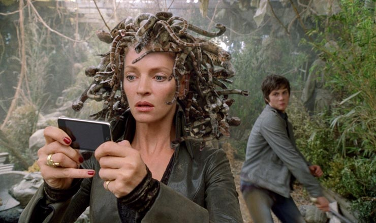 Percy Jackson och kampen om åskviggen (2010) : Logan Lerman, Uma Thurman