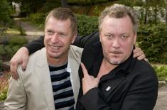Grünvald Larsson (Johan Hedenberg) och Mårten Späck (Leif Andrée)